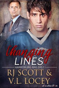 V.L. Locey, RJ Scott, Harrisburg Railers, Hockey Romance, MM Romance