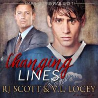 Changing Lines, Audio, V.L. Locey, MM Romance, Hockey Romance, RJ Scott