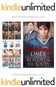KU Hockey, RJ Scott, V.L. Locey, MM Romance